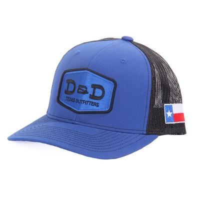 D&D Texas Outfitters Royal Blue and Black Texas Cap