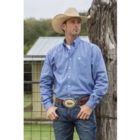 Cinch Men's Long Sleeve Button Down Geo Print Shirt