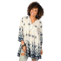 Ivy Jane Women's 3/4 Sleeve Collared Dress