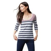 Tommy Bahama Women's  Indio Sedaris Stripe 3/4 Sleeve Top