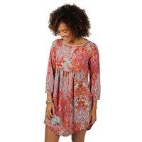 Uncle Frank Women's Long Sleeve Tunic Dress With Gathered Skirt