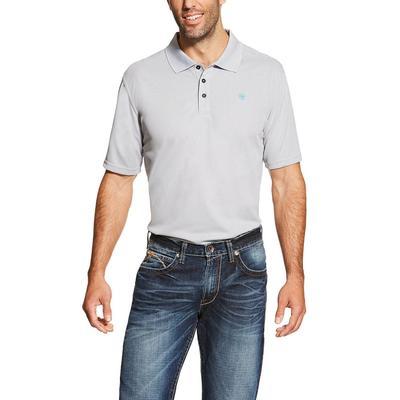 Ariat Men's Short Sleeve Grey Tek Polo