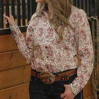 Cinch Women's Long Sleeve Paisley Button Down Shirt