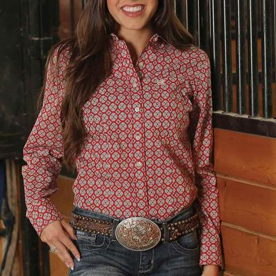 Cinch Women's Long Sleeve Medallion Button Down Shirt