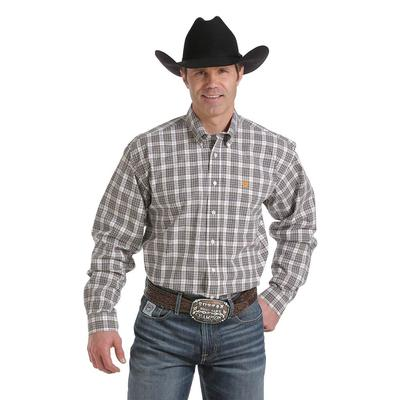 Cinch Men's Long Sleeve Tartan Plaid Button Shirt