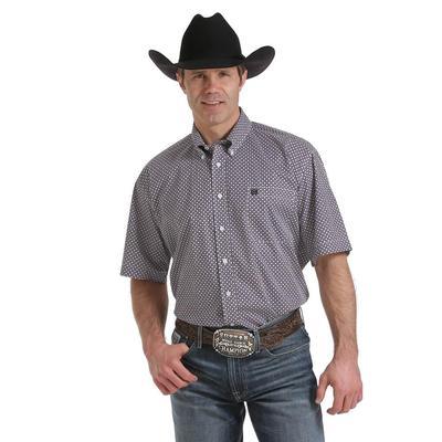 Cinch Men's Short Sleeve Geo Print Button Shirt