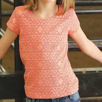 Gruel Girl Girls Short Sleeve Lined Lace Top