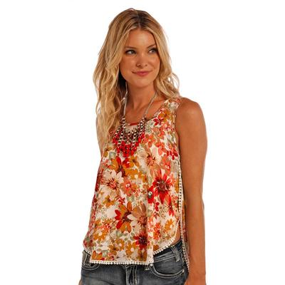 Panhandle Slim Women's Floral Tank Top