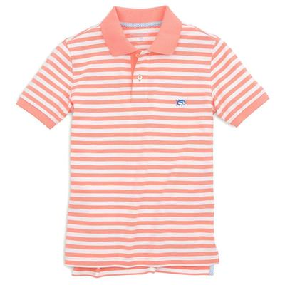 Southern Tide Boy's Short Sleeve Striped Skipjack Polo