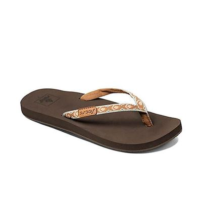 Luxury Reef Fanning Leather Thong Sandals In Brown For Men | Lyst