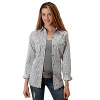 Roper Women's Long Sleeve Grey Snap Shirt