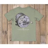 Southern Marsh Boy's Green Fishing Reel T-Shirt