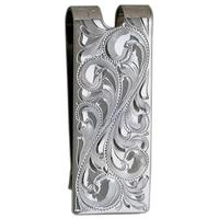 Bar V Ranch Engraved Money Clip