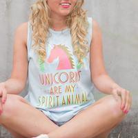 Jadelynn Brooke Women's Unicorns Are My Spirit Animal Tank
