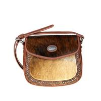 Montana West Trinity Ranch Tooled Hair-On Saddle Bag Purse