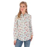Wrangler Women's Long Sleeve Steerhead Print Shirt