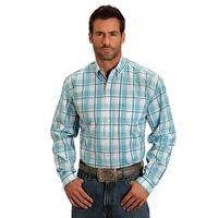 Stetson Men's Blue Springs Plaid Shirt