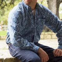 Cinch Men's Blue Floral Shirt