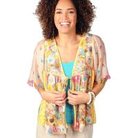 Ivy Jane Women's Multicolored Floral Tie Top