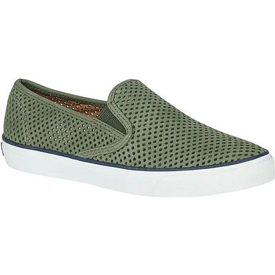 Sperry Women's Olive Seaside Perforated Sneaker
