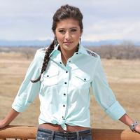 Cruel Girl Women's Long Sleeve Snap Shirt