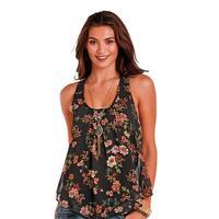 Panhandle Slim Women's Floral Chiffon Tank Top