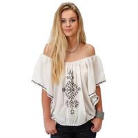 Roper Women's Embroidered Peasant Top