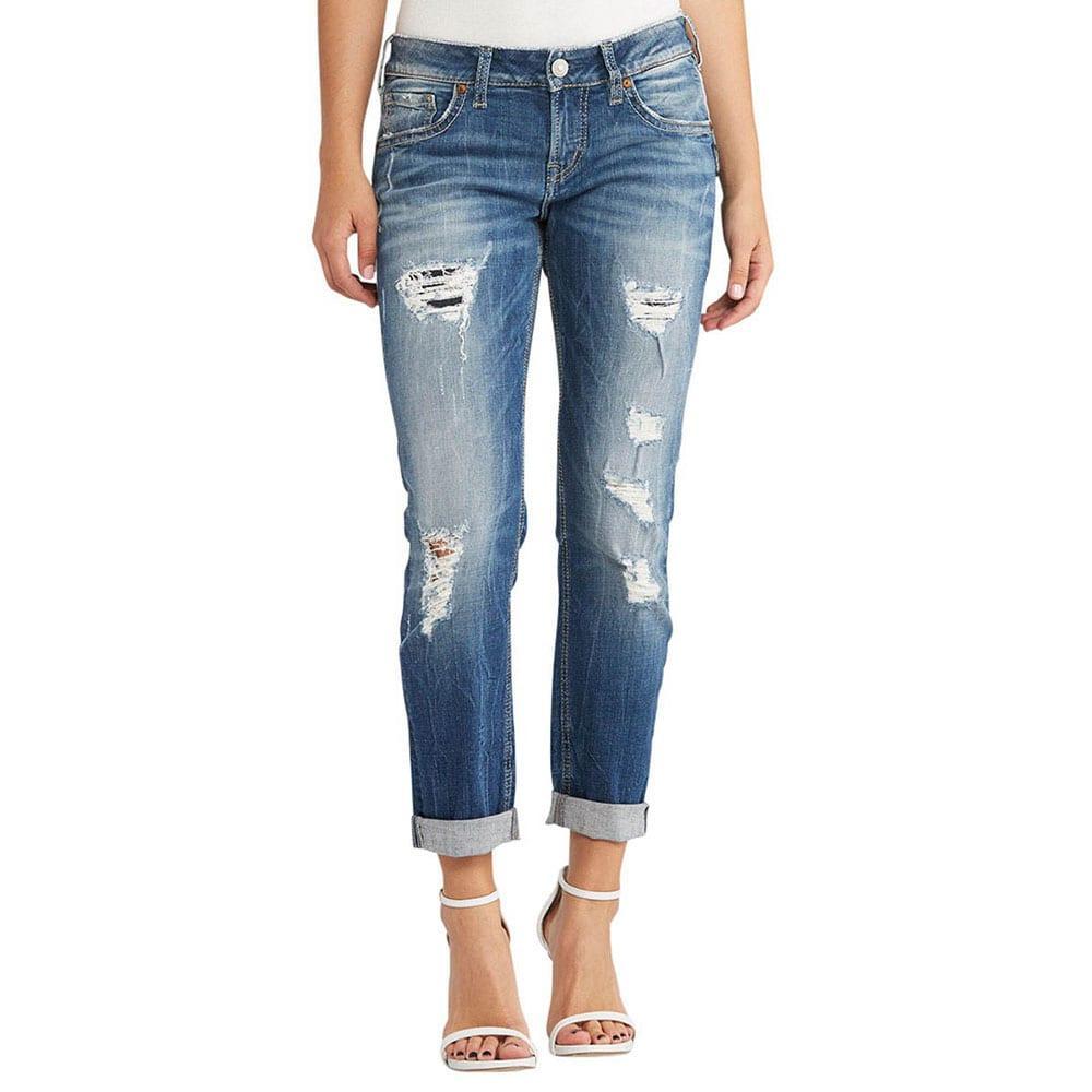 13068d1fbc1f Silver Jeans Women s Sam Slim Boyfriend Jean