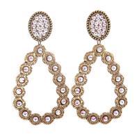 Pink Panache's Bronze Oval Teardrop AB Crystal Earring