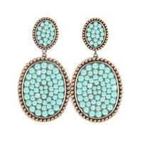 Pink Panache's Bronze Mini Medium Oval Crystal Earring