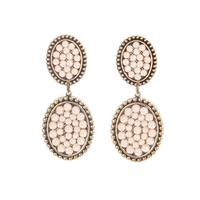Pink Panache's Bronze Mini Small Oval Crystal Earring