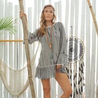 Z+L Women's Tie Dye Shibari Dress