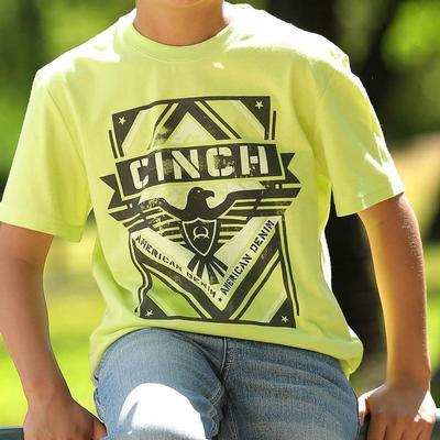 Cinch Boy's Short Sleeve Lime Tee