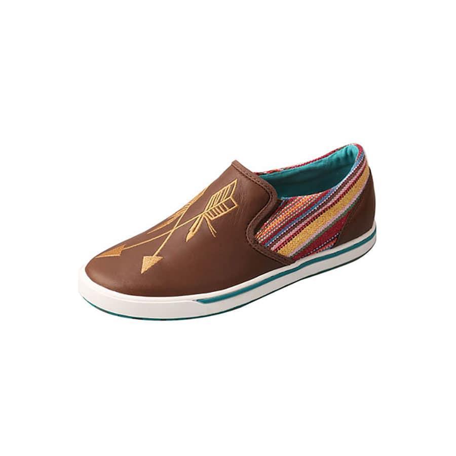 Twisted X Women's Brown And Purple Arrow Shoe Item # WCA0020