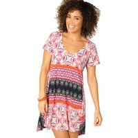 Uncle Frank Women's Pink and Navy V-Neck Dress
