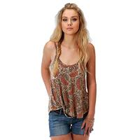 Roper Women's Orange Paisley Swing Tank