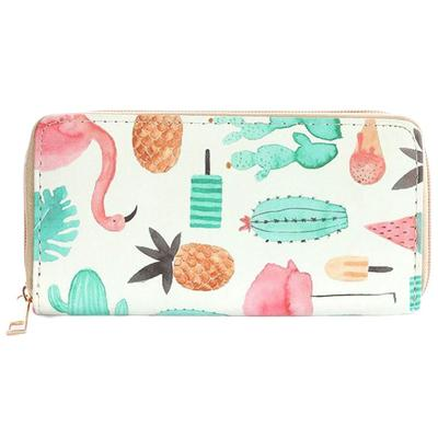 Flamingo Pineapple Ice Cream Wallet
