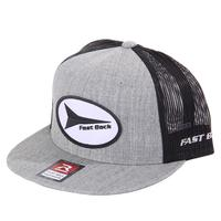 Fast Back's Grey & Black Flat Bill Cap