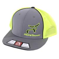 Rope Smart's Charcoal and Neon Green Fitted Hat