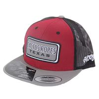Cactus Ropes' Maroon and Grey Snapback Cap