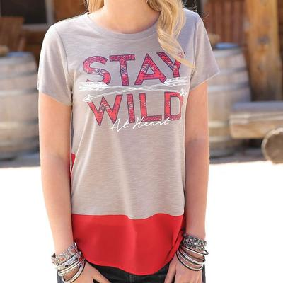 Cruel Girl Women's Stay Wild At Heart Tee