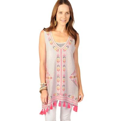 Ivy Jane Women's Sleeveless Tunic With Embroidery