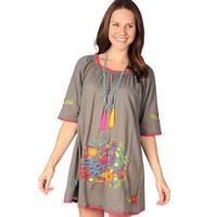 Ivy Jane Women's Grey Swing Dress