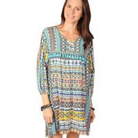 Uncle Frank Women's Pastel Aztec Print Dress