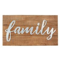 Mud Pie's Family Metal and Wood Plaque