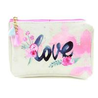 Pink Flower Love Accessory Bag