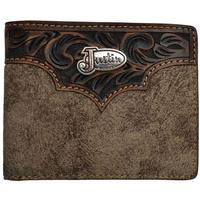 Justin's Dude Taupe Western Rodeo Bifold Wallet