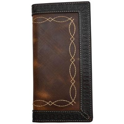 3d's Brown Western Rodeo Checkbook Wallet