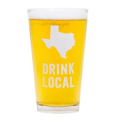 About Face Designs ' Texas Beer Pint Glass