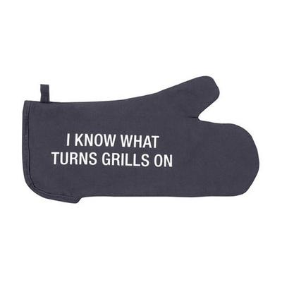 About Face Designs ' Turns Grills On Oven Mitt